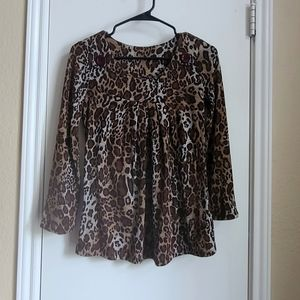 Leopard Print light sweater top